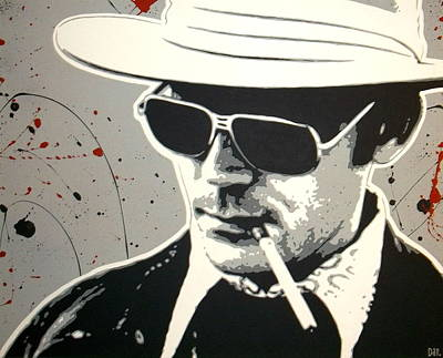 Hunter S. Thompson Painting - Hunter S Thompson by Dan Carman