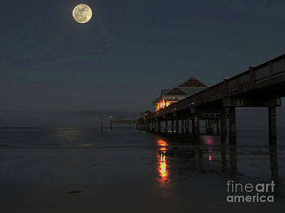 Photograph - Hunters Moon At Pier 60 by D Hackett