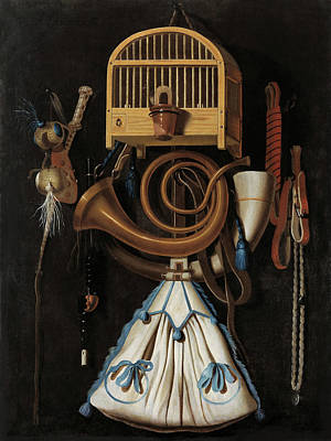Painting - Hunting Gear - Still Life   by Anthonis Leemans