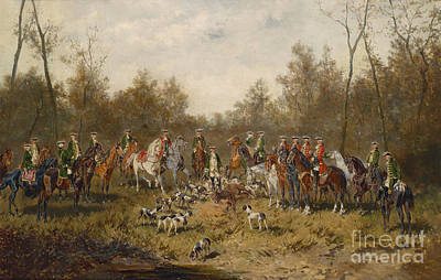 Hunting Party Painting - Hunting Party by Celestial Images