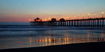 Winter Animals - Huntington Beach pier at sunset by Pierre Leclerc Photography
