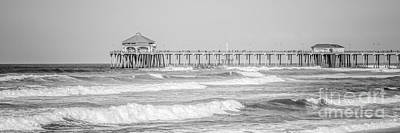 Huntington Beach California Photograph - Huntington Beach Pier Panorama Photo by Paul Velgos