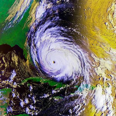 St Augustine Photograph - Hurricane Floyd   by Jon Neidert
