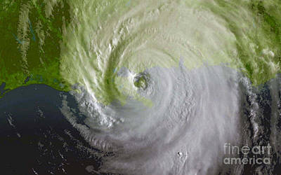 Noaa Photograph - Hurricane Katrina by Science Source