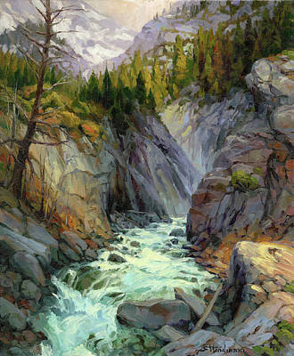 Mountain River Wall Art - Painting - Hurricane River by Steve Henderson