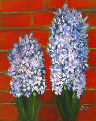 Art Print featuring the painting Hyacinths by Patricia Januszkiewicz