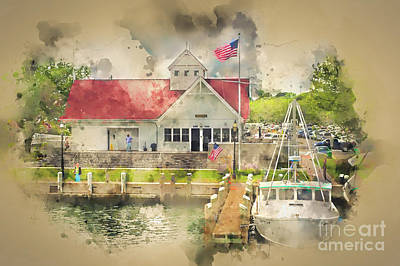 Photograph - Hyannis The Coastguard by Jack Torcello