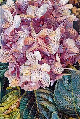Digital Art - Hydrangea  by Caryl J Bohn