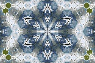 Digital Art - Hydrangea Kaleidoscope by J McCombie