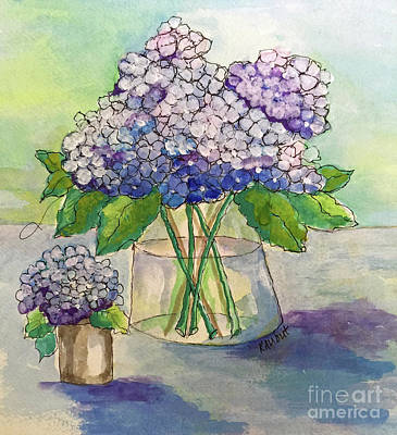 Painting - Hydrangea  by Rosemary Aubut