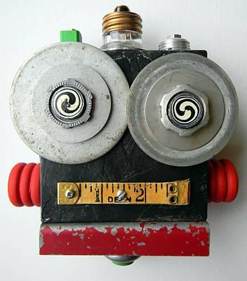 Mixed Media - Hypno Bot by Jen Hardwick