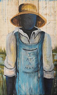 Gullah Geechee Painting - I Am A Man by Sonja Griffin Evans