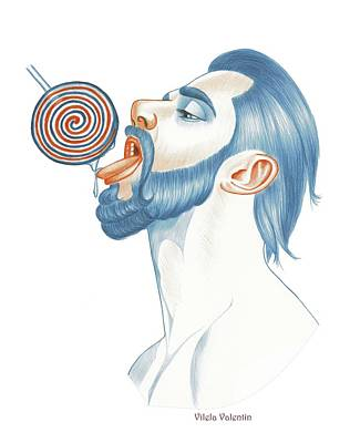 Queer Drawing - I Let You Suck My Lollipop by Vilela Valentin