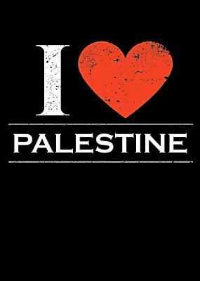 Photograph - I Love Palestine by Munir Alawi