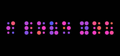 Digital Art - I Love You - Braille by Michael Tompsett