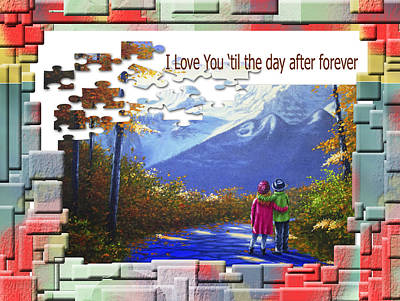 Painting - I Love You 'til The Day After Forever  by Saeed Hojjati