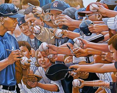 Baseball Art Baseball Painting - I Owe You by Curtis James