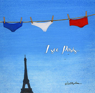 Painting - I See Paris... by Will Bullas