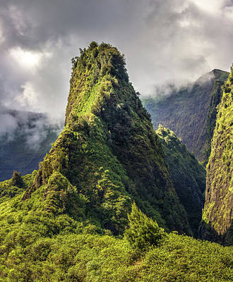 Design Turnpike Vintage Maps - Iao Valley Maui by Pierre Leclerc Photography
