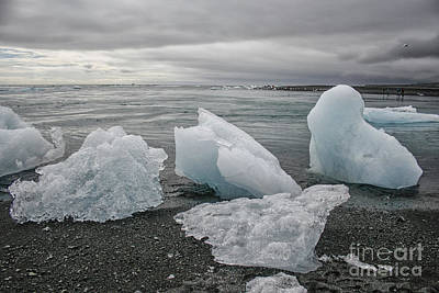 Photograph - Ice Chunks In Lake by Patricia Hofmeester