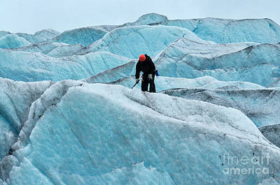 Mountains Photograph - Ice Climbing Mendenhall Glacier, Juneau, Alaska by Dani Prints and Images