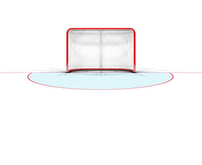 Stadium Digital Art - Ice Hockey Goals by Allan Swart