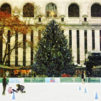Ice Skating During The Holiday Season Art Print by Nishanth Gopinathan