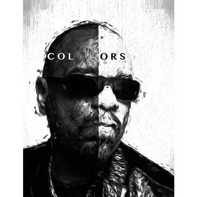 Celebrities Photograph - Ice-t Colors The Ganga Of La Will Never by David Haskett