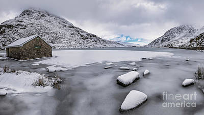 Photograph - Icy Lake Snowdonia by Adrian Evans