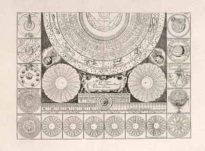 Drawings Royalty Free Images - Idea dell Universo - Model of the universe - Antique Celestial Chart - Astronomical Chart - Plate 2 Royalty-Free Image by Studio Grafiikka