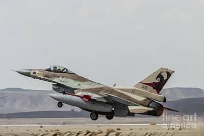 Pyrography - Idf/af F-16c Barak - Blue Flag 2017 by Amos Dor