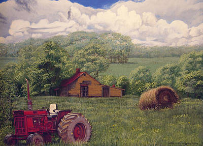 Peter Muzyka Wall Art - Painting - Idle In Godfrey Georgia by Peter Muzyka