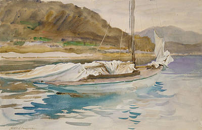 Drawing - Idle Sails by John Singer Sargent