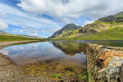 Art Print featuring the photograph Idwal Lake Snowdonia by Adrian Evans