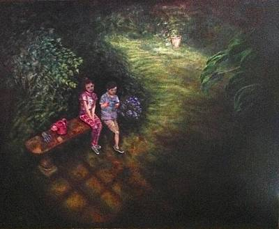 Painting - If Cinderella Had A Garden by J Reynolds Dail
