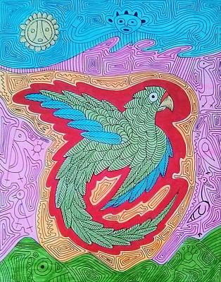 Taino Drawing - Iguaca by Jose Guerrido jr