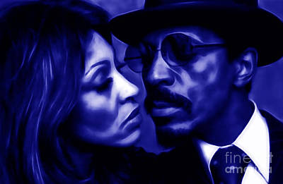Ike And Tina Turner Collection Art Print by Marvin Blaine