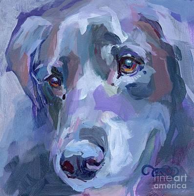 Lavendar Painting - Ike by Kimberly Santini