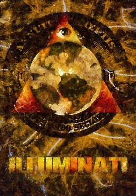 Medieval Painting - Illuminati by Esoterica Art Agency
