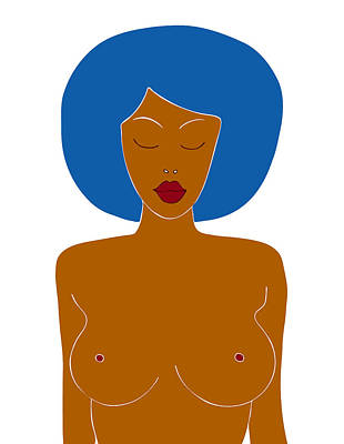 Nudes Royalty-Free and Rights-Managed Images - Illustration of a woman by Frank Tschakert