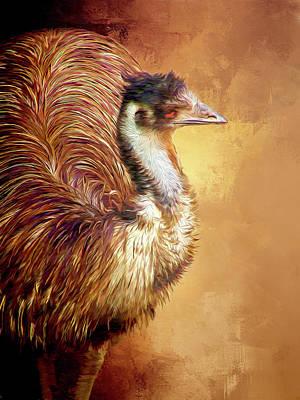 Emu Digital Art - Ima Emu by Casey Heisler