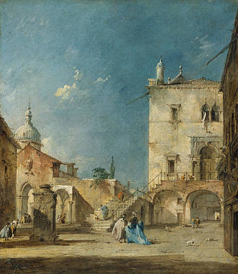 Painting - Imaginary View Of A Venetian Square Or Campo by Treasury Classics Art