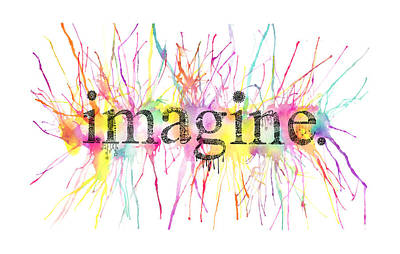 Imagine. Art Print by Kalie Hoodhood