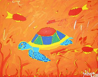Art Print featuring the painting Imagine by Yshua The Painter