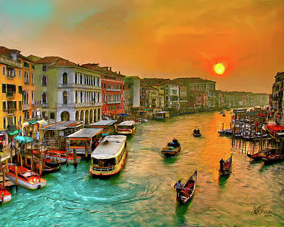 Art Print featuring the photograph Imbarcando. Venezia by Juan Carlos Ferro Duque