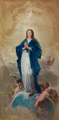Saint Painting - Immaculate Conception by Francisco Goya