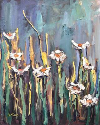 Painting - Impasto Daisies by Donna Tuten