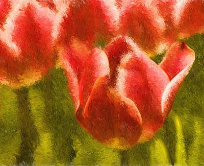 Digital Art - Impression Tulips  by Mick Burkey