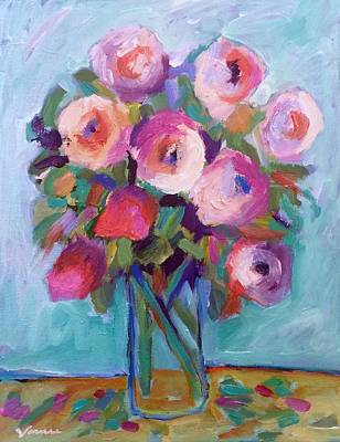Impressionist Roses Art Print by Venus