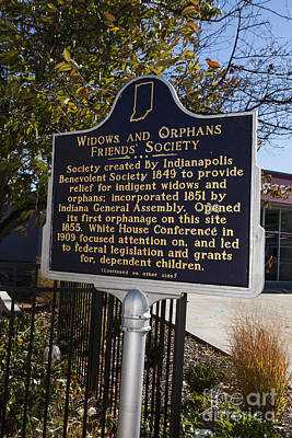 Widow Display Photograph - In-49.2003.1 Widows And Orphans Friends' Society by Jason O Watson